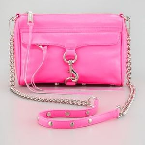 REBECCA MINKOFF | Hot Pink Mini M.A.C Crossbody